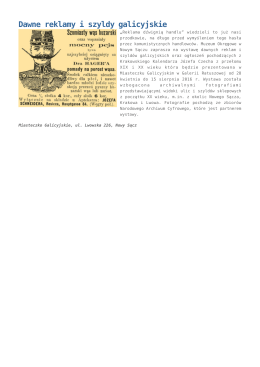 Dawne reklamy i szyldy galicyjskie