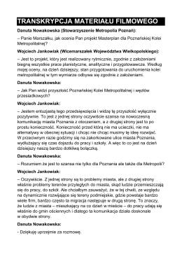 transkrypcja materiału filmowego - ZIT