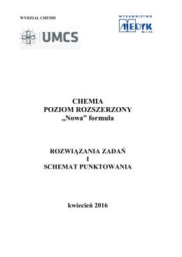 """CHEMIA POZIOM ROZSZERZONY """"Nowa"""" formuła"""