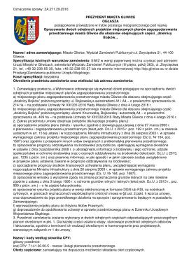 Ogloszenie_o_zamowieniu - BIP Urząd Miejski w Gliwicach