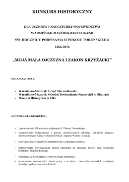 Regulamin konkursu - Warmińsko – Mazurski Ośrodek