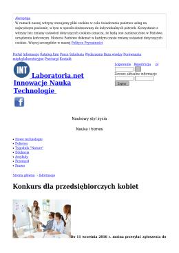 Konkurs dla przedsiębiorczych kobiet - Informacje
