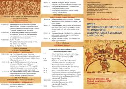 program konferencji - Uniwersytet Warmińsko
