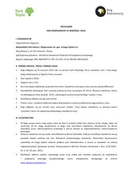 Regulamin - KalendarzBiegowy.pl