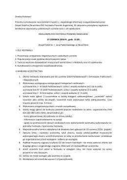 Regulamin - Zespół Szkół im. Ignacego Jana Paderewskiego w