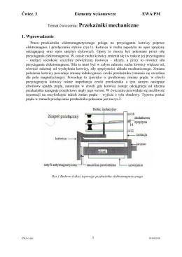 Temat ćwiczenia: Przekaźniki mechaniczne