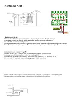 Kontrolka AFR - motoelektron