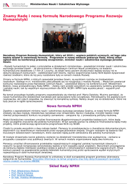Znamy Radę i nową formułę Narodowego Programu Rozwoju