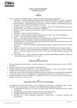 Regulamin - Nagrody