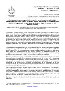 Państwa członkowskie mogą oddalić wniosek w - curia