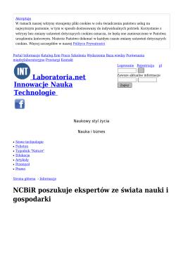 NCBiR poszukuje ekspertów ze świata nauki i