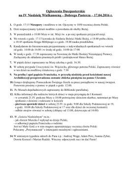 Ogłoszenia – 17.04.2016 – pdf