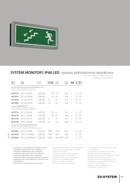 SYSTEM MONITOR1 IP40 LED oprawa jednostronna natynkowa