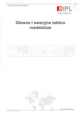 Główne i awaryjne tablice rozdzielcze