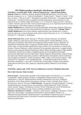 """XIX Międzynarodowe Spotkania Akordeonowe """"Sanok 2016"""""""