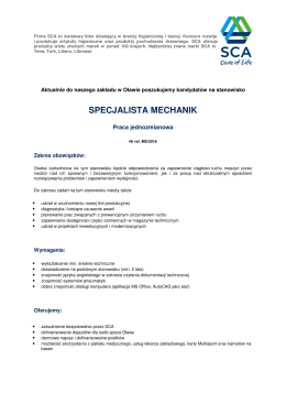 specjalista mechanik