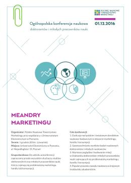 meandry marketingu - Polskie Naukowe Towarzystwo Marketingu