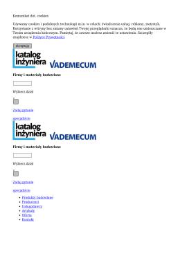 Katalog Inżyniera - Firmy i materiały budowlane
