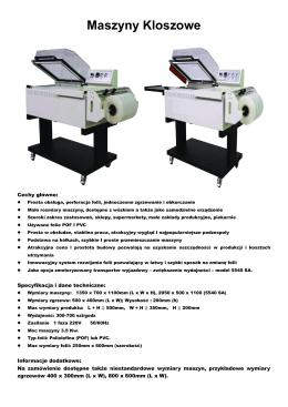 Maszyny Kloszowe