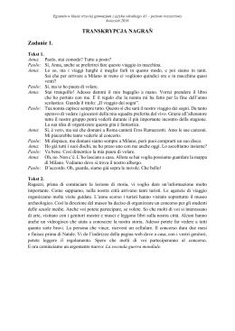 TRANSKRYPCJA NAGRAŃ Zadanie 1.