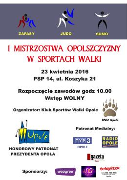 Plakat Dyplom KSW Opole 20,04