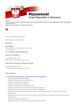 Źródło: http://mazowieckie.pl/pl/urzad/wydzialy/wydzial