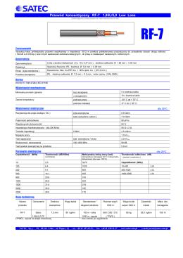 Przewód koncentryczny RF-7 1,85L/5,0 Low Loss