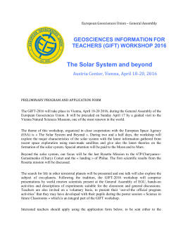 The Solar System and beyond - European Geosciences Union