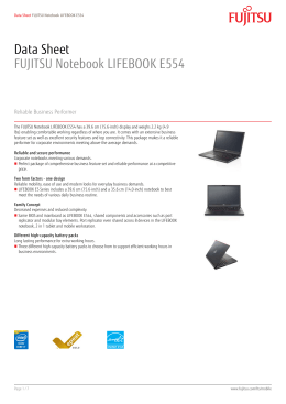Data Sheet FUJITSU Notebook LIFEBOOK E554
