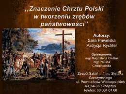 Sara Pawelska, Patrycja Rychter – Zespół Szkół nr1 im. Stefana