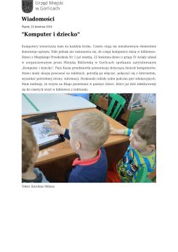 Komputer i dziecko - Urząd Miejski w Gorlicach