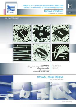 Katalog produktów Uchwyty i opaski kablowe