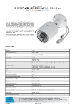 IP CAMERA APTI-13C3-36W ONVIF 2.0, - 960p 3.6 mm