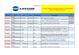 Zobacz spis nowych referencji Dr.Motor Automotive
