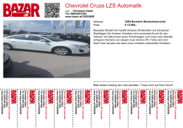 Chevrolet Cruze LZS Automatik