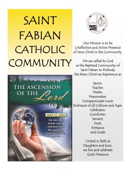 invitation to prayer - Saint Fabian Catholic Church
