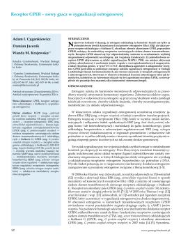 Receptor GPER - Postępy Biochemii