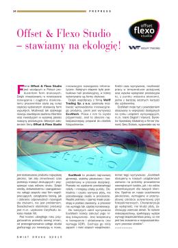 Offset & Flexo Studio – stawiamy na ekologię!