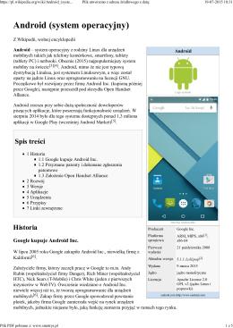 Android - system operacyjny