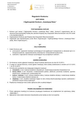 pobierz regulamin - inwestycjaroku.pl