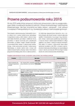 Prawne podsumowanie roku 2015