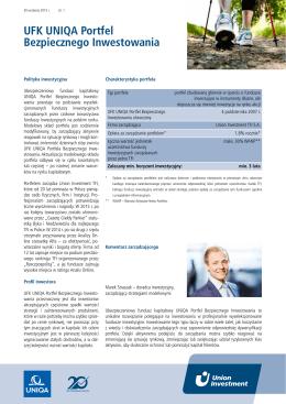 UFK UNIQA Portfel Bezpiecznego Inwestowania