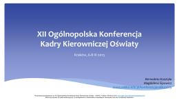 Prezentacja - Ogólnopolskie Stowarzyszenie Kadry Kierowniczej