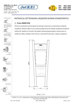 instrukcja użytkowania urządzeń siłowni zewnętrznych