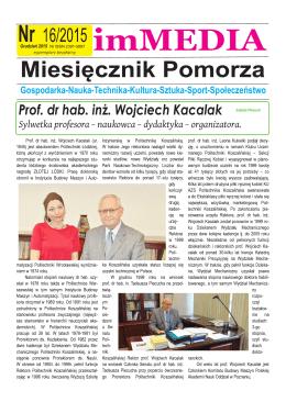 Prof. dr hab. in . Wojciech Kacalak