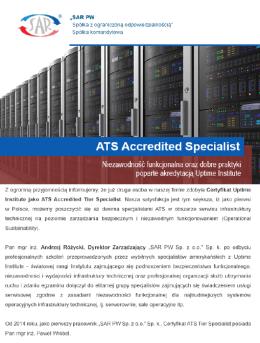 Akredytacja – Uptime Institiute – ATS Accredited Tier Specialist