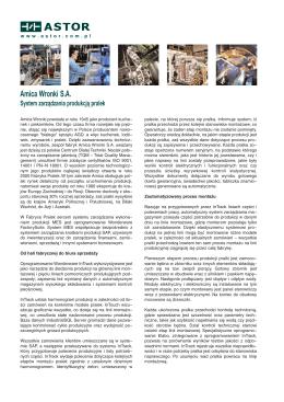 System zarządzania produkcją pralek