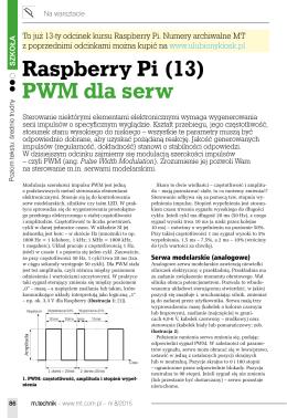 Raspberry Pi (13) PWM dla serw