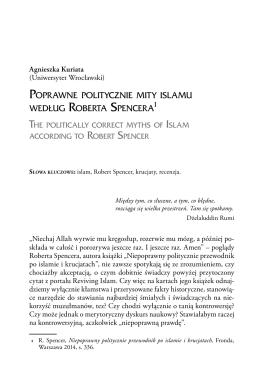 Poprawne politycznie mity islamu według Roberta Spencera