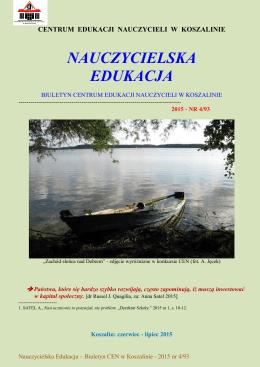 pobierz czasopismo - Centrum Edukacji Nauczycieli w Koszalinie